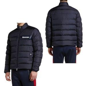 MONCLER Servieres Zip-Up Puffer Jacket Navy New